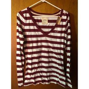 NWT -Long Sleeve Hollister T-Shirt. Women's Size L